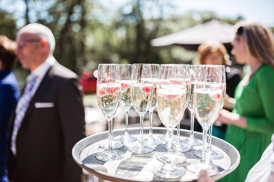 Brasserie de Boerderij glazen champagne