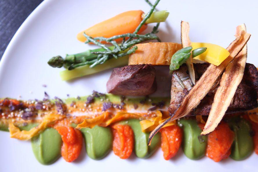 Brasserie de Boerderij bord met gerecht