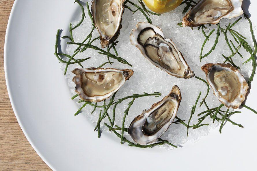 Brasserie de Boerderij bord met oesters